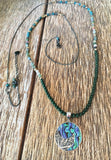 Abalone Moon Jade Necklace