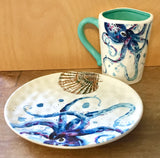 Ocean Wash Mug and Sea Life Nautical Plate. Sold separately