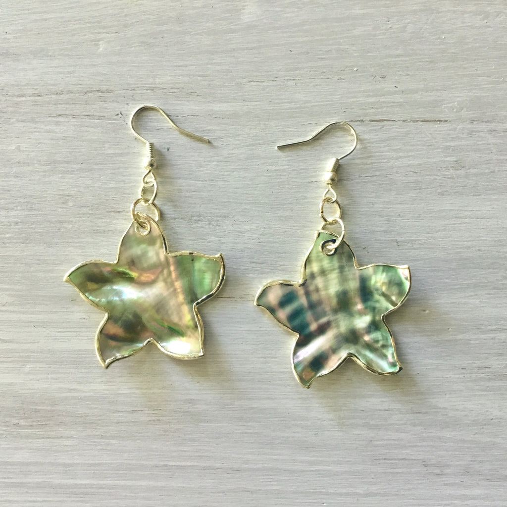 Abalone Starfish Earrings