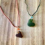 CA Sea Glass Heart Necklace