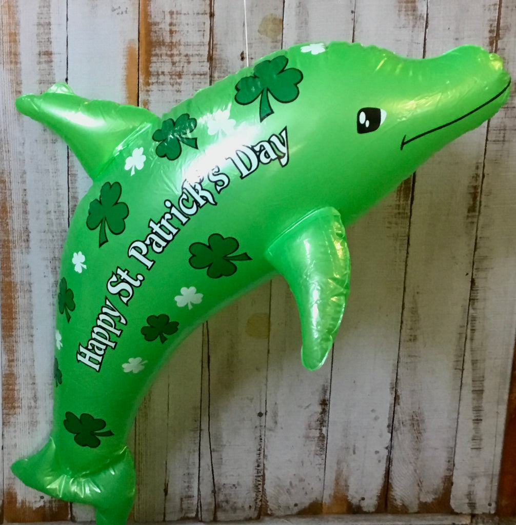 St. Patrick's Day Blowup Dolphin