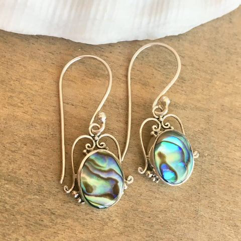 Abalone Twirl Earrings