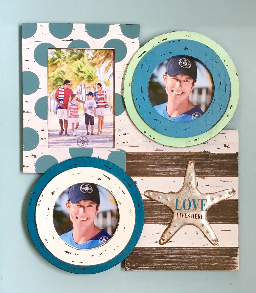 Metal Starfish Photo Frame Collage