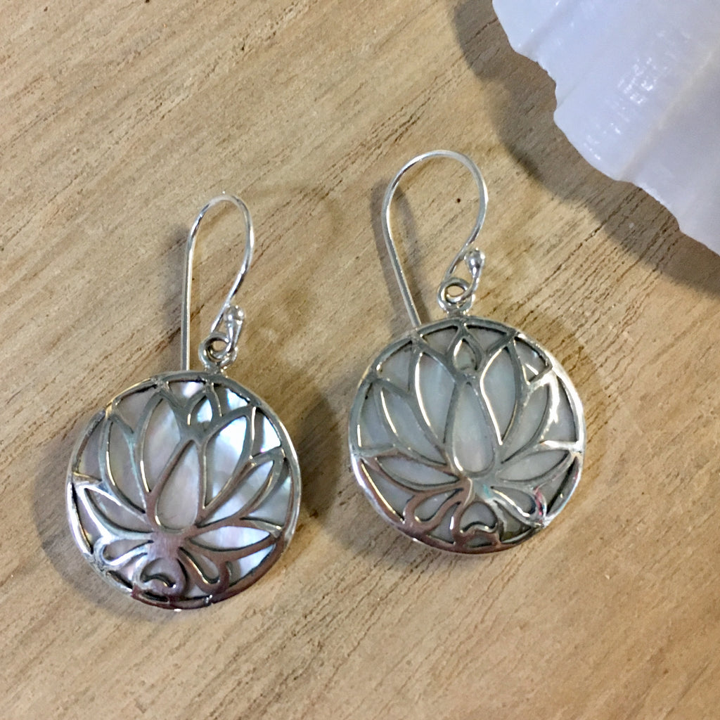 MOP Lotus Earrings