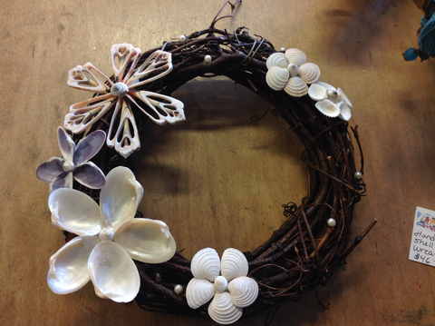 Handmade Shell Flower Wreath
