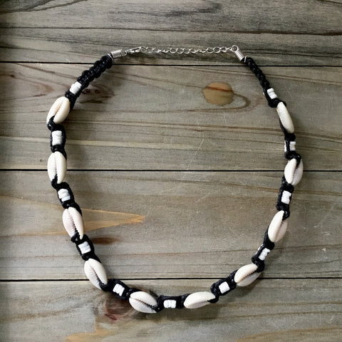 Cowrie Shell Chip Necklace