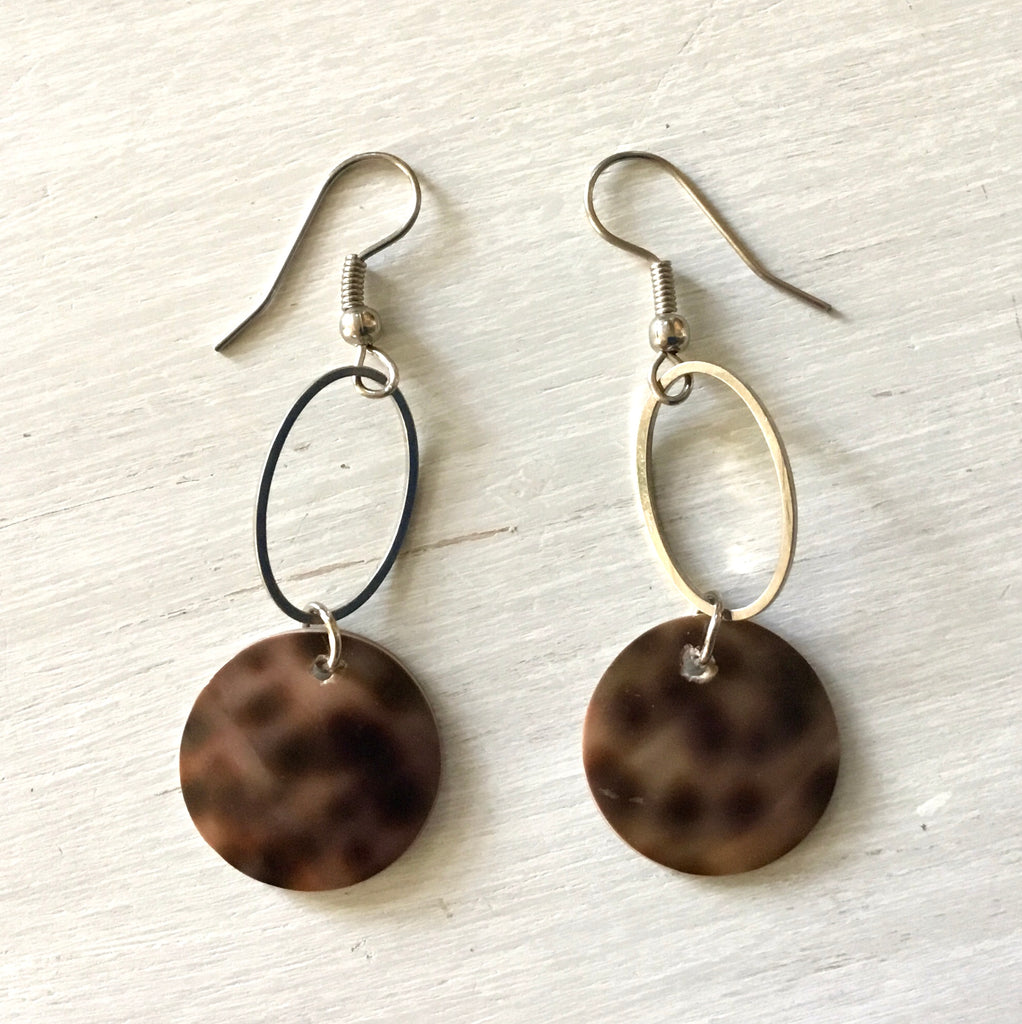 Cowrie Shell Geo Earrings