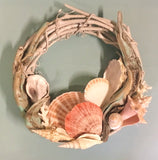 Sea Foam Driftwood Shell Wreath