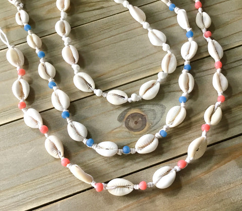 Colorful Cowrie Shell Necklace