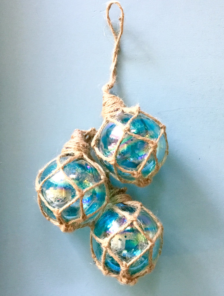 Glass Float Cluster Ornament