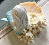 Coral Bed Mermaid Jewelry Dish