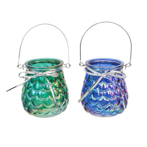 Mermaid Scales Tea Light Lantern