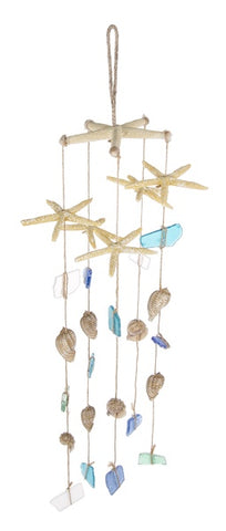 Starfish  Sea Glass Windchime