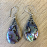 Abalone Tear Drop Earrings