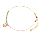 Crystal Sea Turtle Anklet