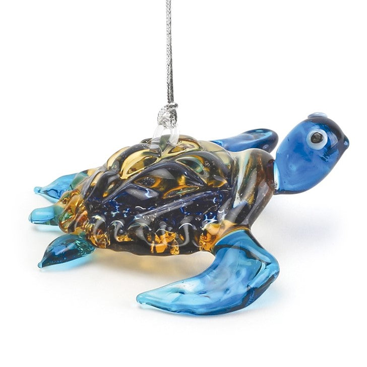 Sea Turtle Glass Ornament