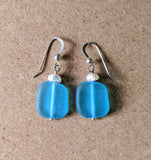 Seaglass Pearl Earrings