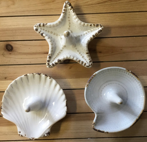 Ceramic Shell Ring Dish