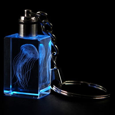 Jellyfish LED Keychain