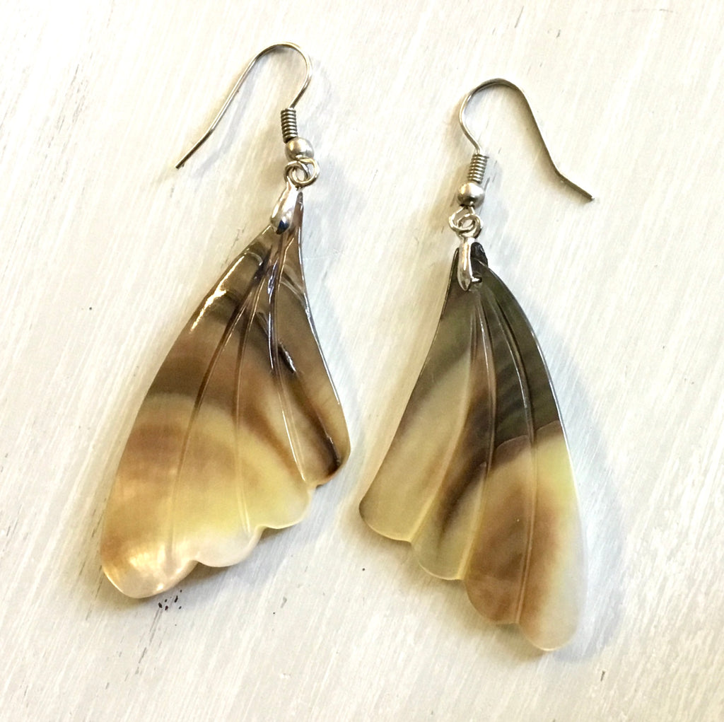 Moth Wing MOP Earrings