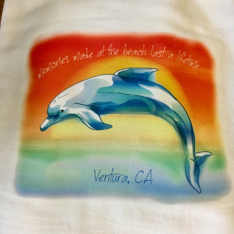 Dolphin Memories Tea Towel