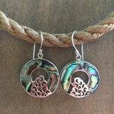 Abalone Wave Donut Earrings