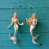 Silver Crowned Mermaid Ornament