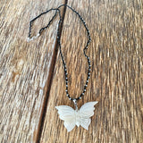 Butterfly MOP Beaded Necklace