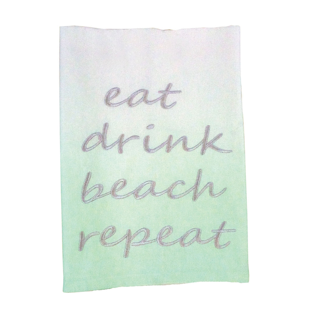 Beach Repeat Tea Towel
