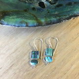 Abalone Geometric Earrings