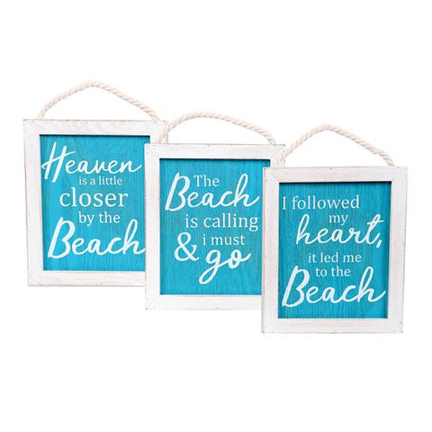 Framed Beach Love Sign