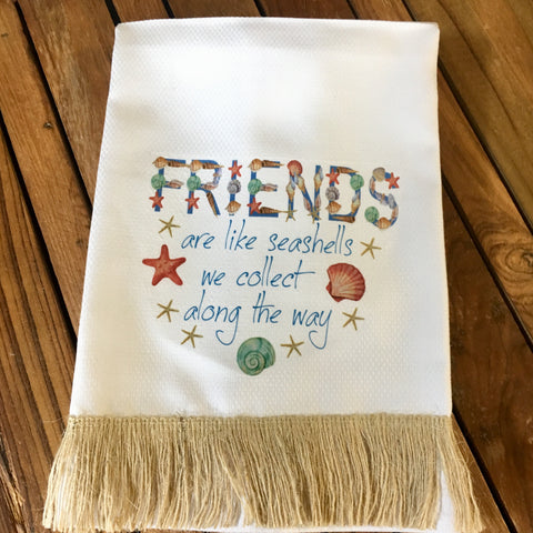 Friends Seashells Tea Towel
