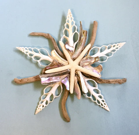 Abalone Driftwood Star Wall Decor