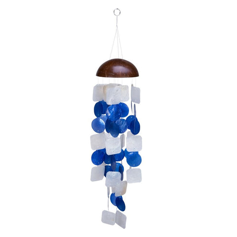 Capiz Blue Coconut Windchime