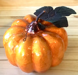 Orange Capiz Pumpkin Decor