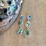 Abalone Circle Drop Trio Earrings