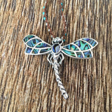 Dragonfly Abalone Beaded Necklace