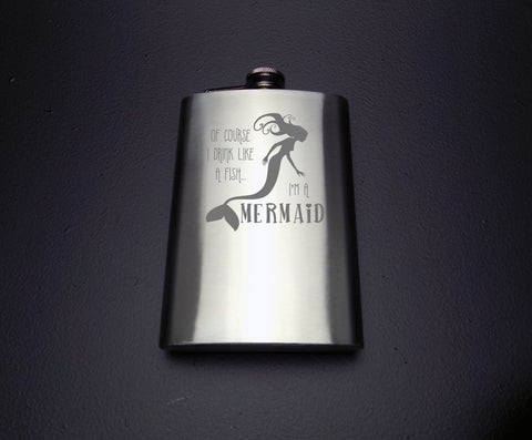 Drink like a Mermaid Flask