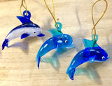Glass Dolphin Ornament