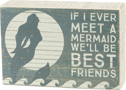 Best Friends Mermaid Box Sign