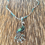 Abalone Peacock Necklace