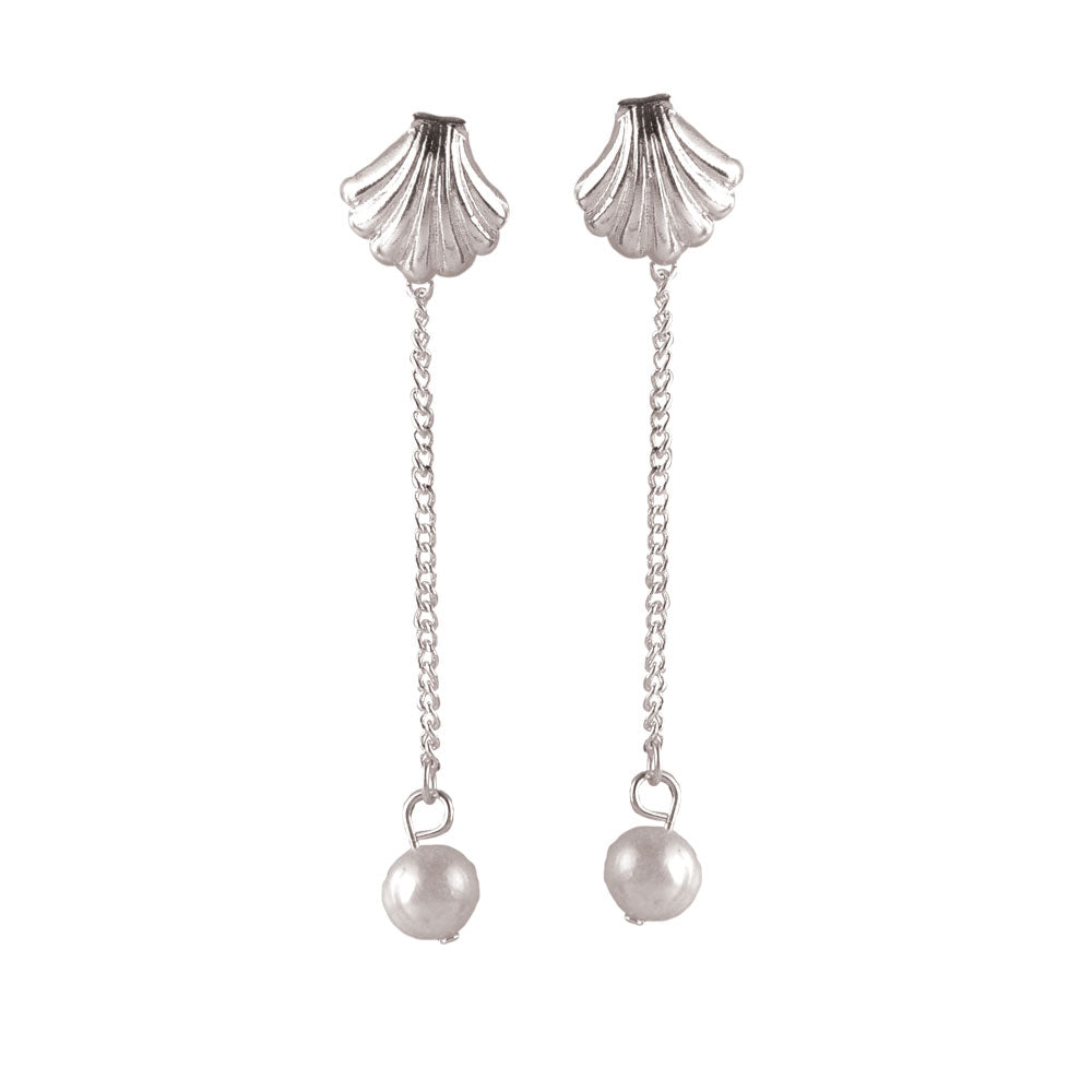 Shell Pearl Drop Earrings
