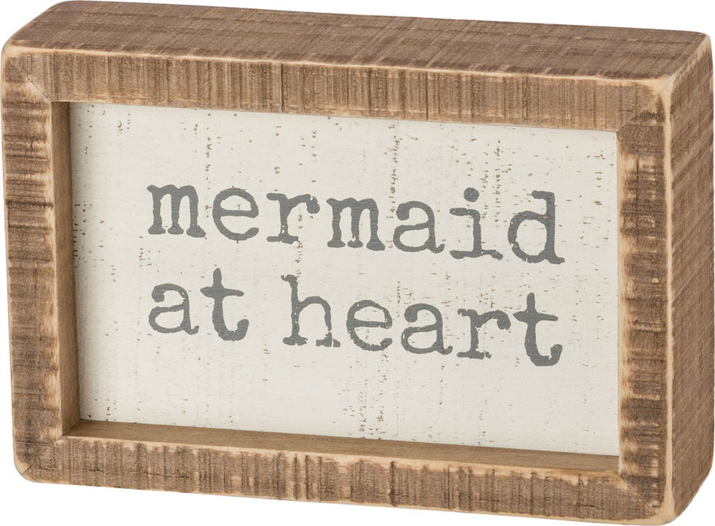 Mermaid At Heart Box Sign