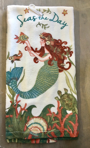 Seas The Day Mermaid Towels