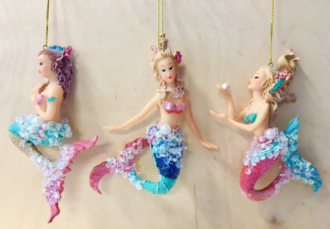 Dazzle Mermaid Ornaments