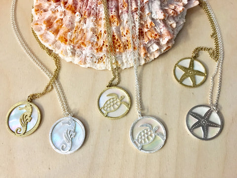 Ocean Medallion Necklaces