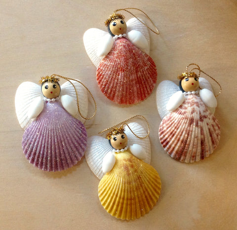 Pecten Shell Angel Ornament