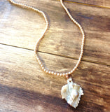 Mop Leaf Beaded Necklace