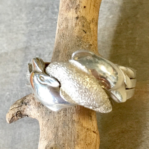 Dolphin Puzzle Ring