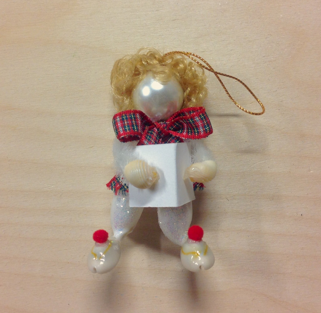 Seashell Christmas Caroler Ornament